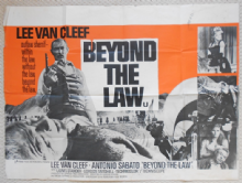 Beyond the Law, Original UK Quad Poster, Classic Lee Van Cleef Art, '68